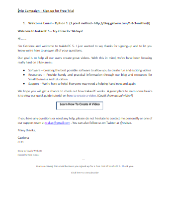 Mailchimp Email Campaign
